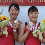 端艇部女子舵手なしペア 全日本選手権準優勝